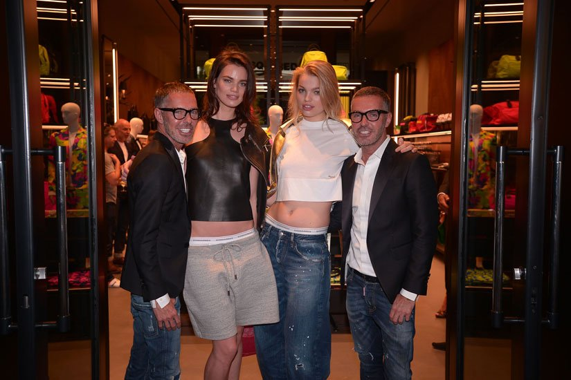 Dean Caten, Rianne Ten Haken, Daphne Groeneveld and Dan Caten