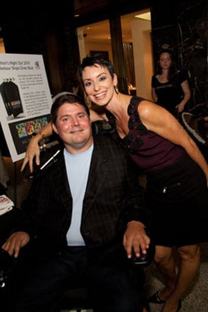 Marc Buoniconti and Belkys Nerey at Fashion's Night Out Bal Harbour
