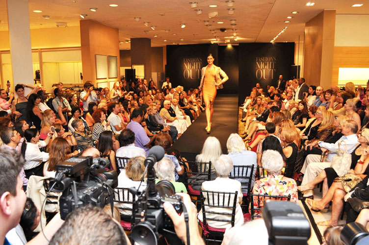 Fall trends fashion show at Neiman Marcus