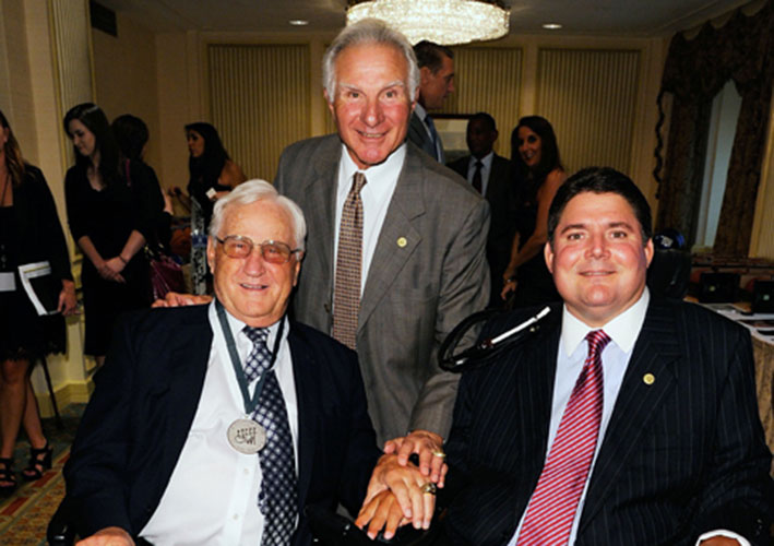 Coach Shula with Nick and Marc Buoniconti