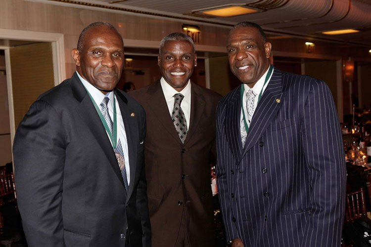 Harry Carson, Carl Lewis and Andre Dawson