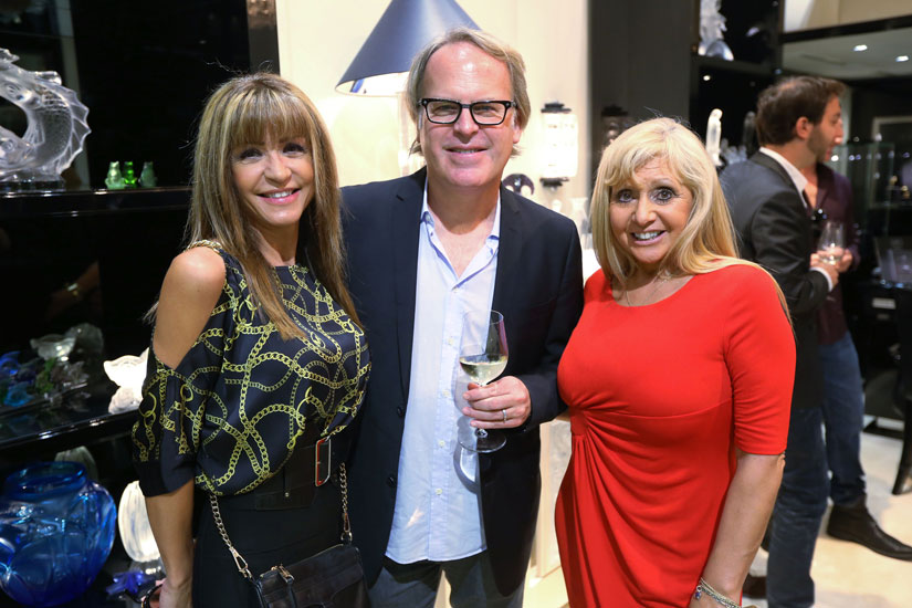 Christina Balinotti, James Suckling and Olga Betancourt