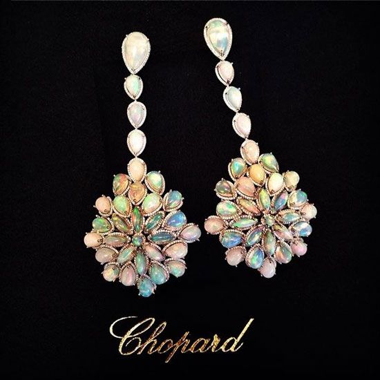 Chopard opal drop earrings