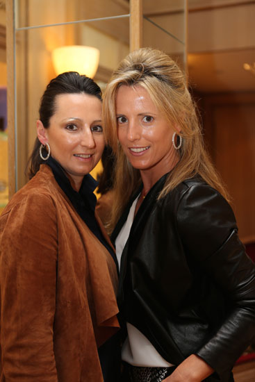 Silvia Olloqui, Marta Olloqui wearing Diamond Hoops approximately 14.4 ct