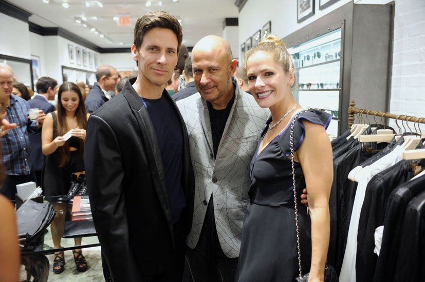 Travis Smith, John Varvatos and Jessica Anderson