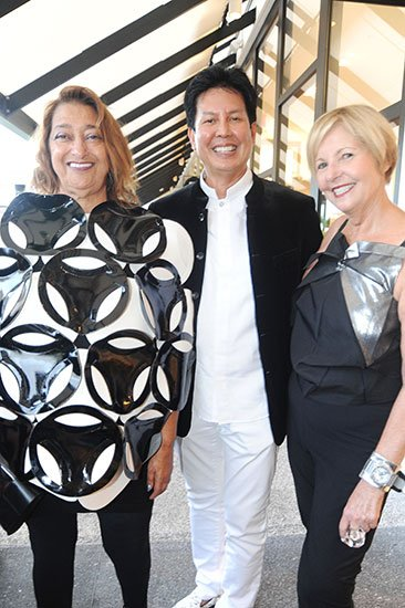Zaha Hadid, Tui Pranich and Cathy Leff