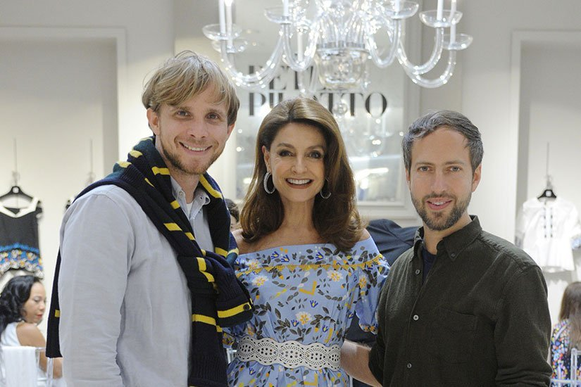 Christopher de Vos, Ruth Malzoni and Peter Pilotto