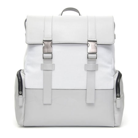 Canali light grey backpack with two straps