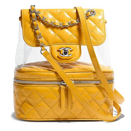 Chanel yellow backpack in PVC