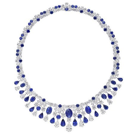 Graff diamond and sapphire Fringe necklace