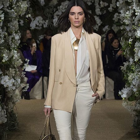 Kendall Jenner in a look from Ralph Lauren