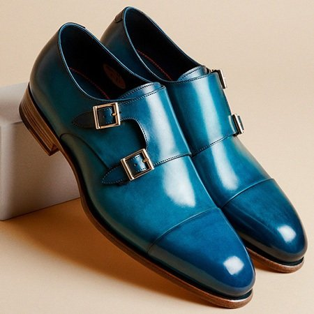 santoni-double-buckle-loafer