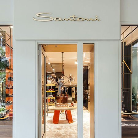 Santoni's new first floor boutique at Bal Harbour Shops