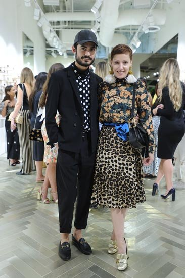 Jhon Santos and Angeles Almuna at the Linda Farrow Opening in Bal Harbour