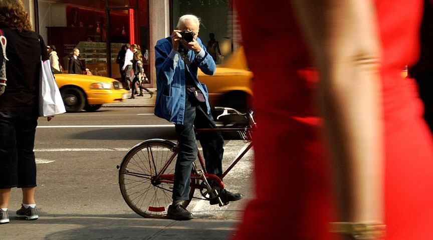 A still from 'Bill Cunningham New York,' 2010. Directed by Richard Press, is playing tonight at the Museum of Modern Art.