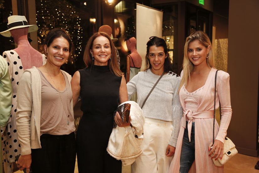 Olympia De Castro, Mirian Khouri, Juliana Costas and Lala Rudge