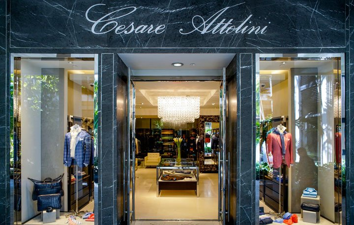 Outside the newly opened Cesare Attolini Bal Harbour boutique.