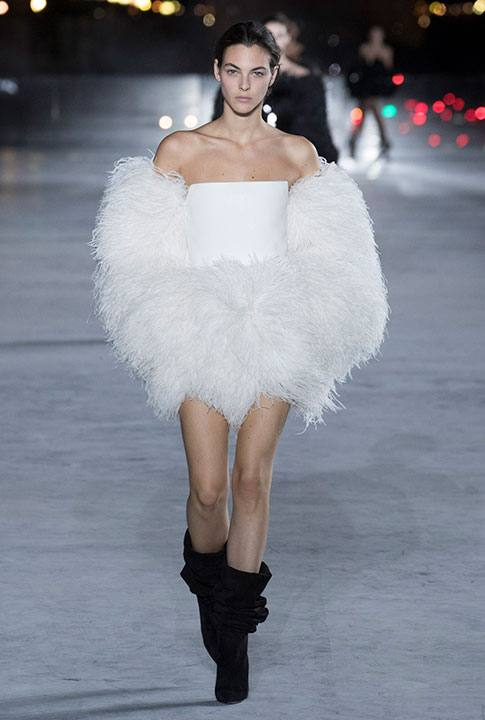 A look from the Saint Laurent Spring collection.