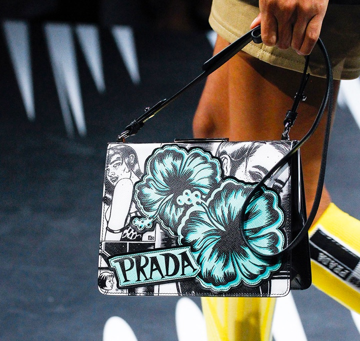 The Light Frame Saffiano bag from Prada's Spring 2018 runway collection.