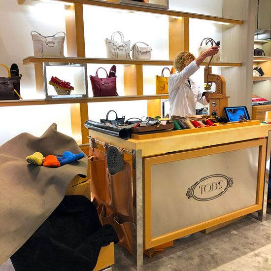 Tod's Bal Harbour demonstrates the production of their iconic driving shoe