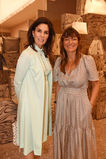Lorenza Weyland and Stephanie Labeille at Valextra Bal Harbour cocktail reception