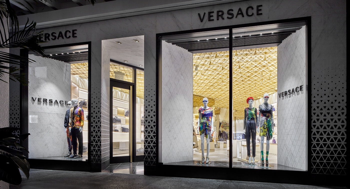 Versace's new concept boutique at Bal Harbour Shops.