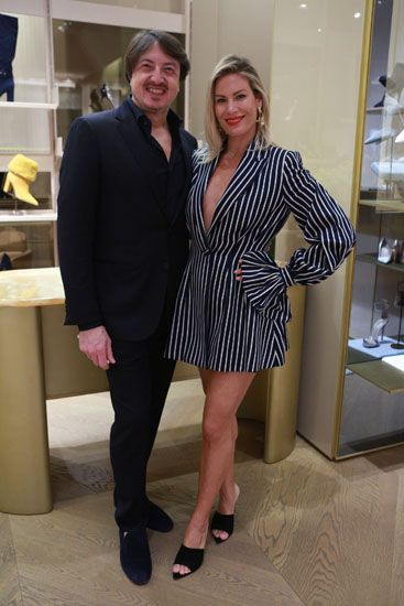 Gianvito Rossi and Serena Bassil