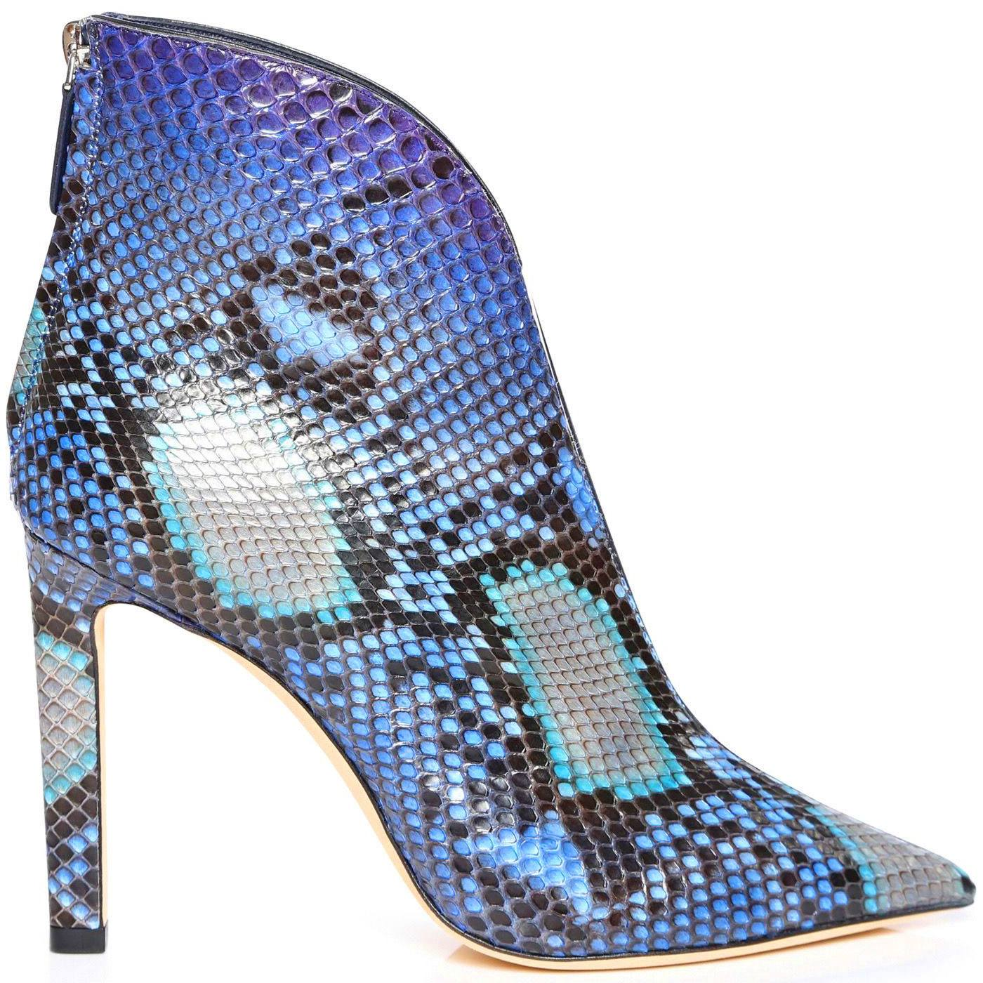Bowie 100 Python Pointed Toe Booties