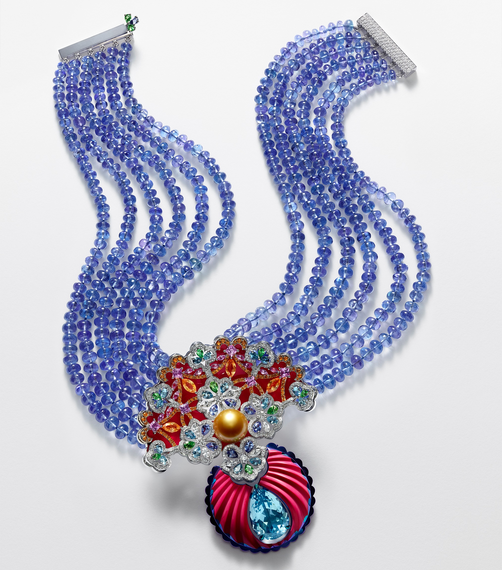 chopard riot of colour necklace from the red carpet 2018 collection