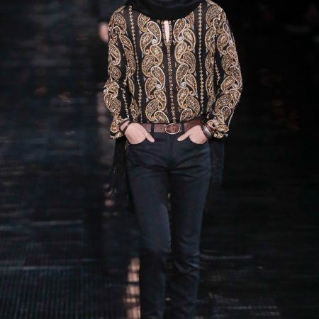 A look from Saint Laurent's spring 2019 collection