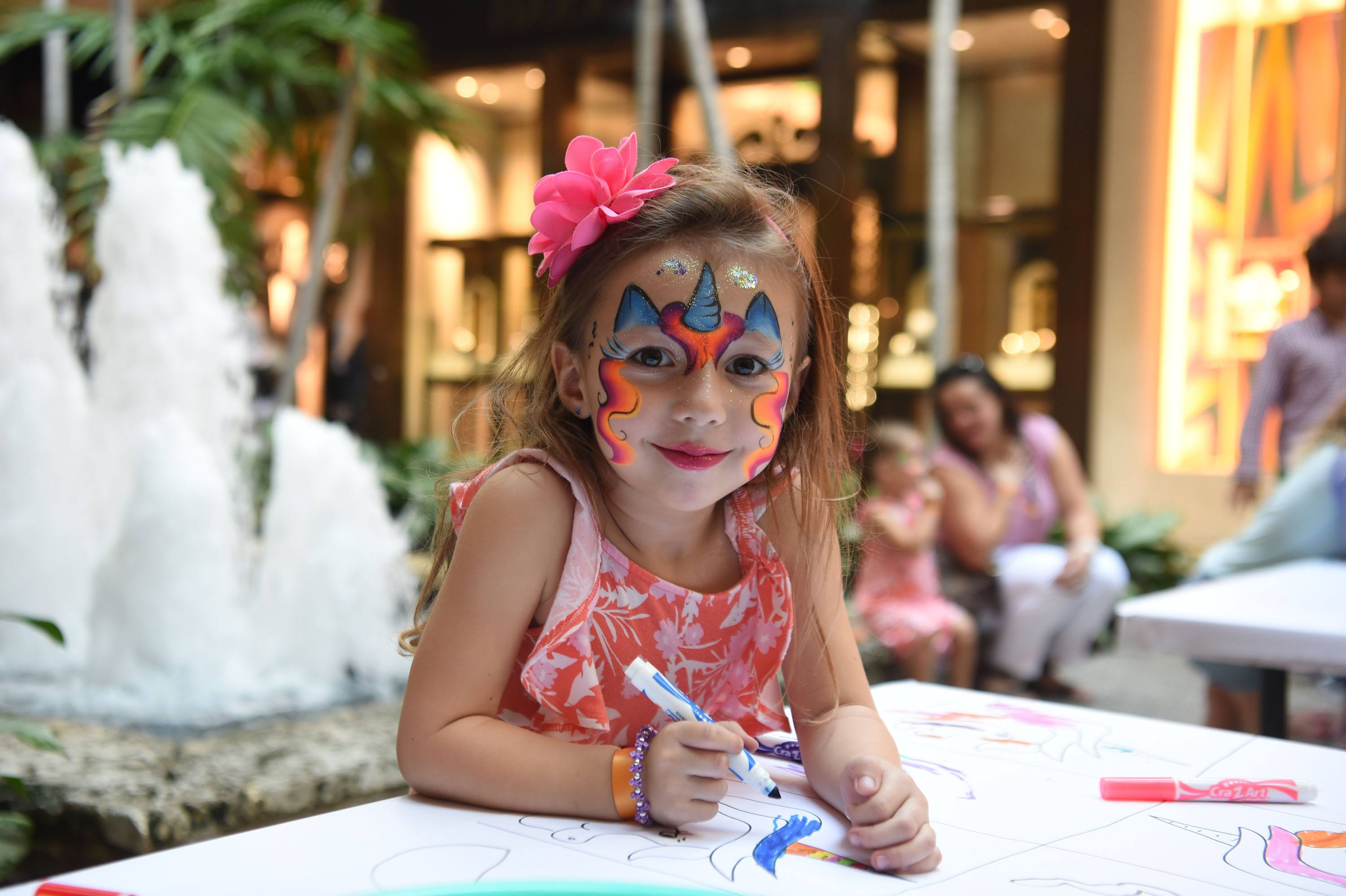 Activations were placed throughout the Shops for children of all ages, from face painting to drawing on graffiti tables and a fun station set up by Neiman Marcus