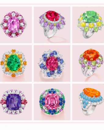 Nine limited edition Harry Winston rings from the Candy Collection