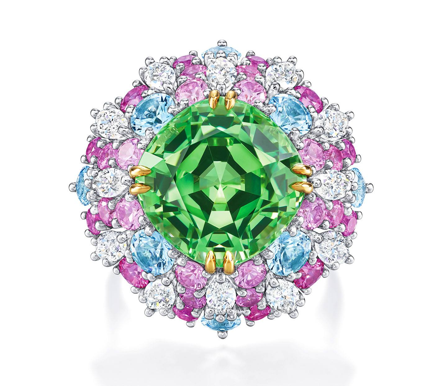 high jewelry ring from harry winston's candy collection