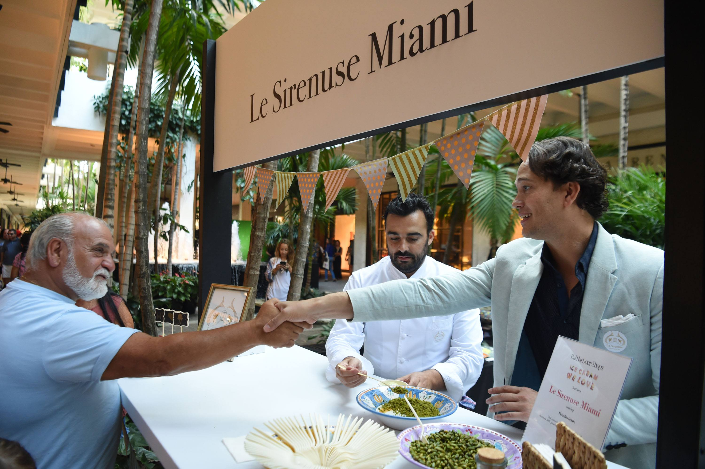 Le Sirenuse Miami served their guests their signature pistachio gelato topped with pistachio dust