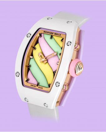 Richard Mille Bonbon Collection featuring the multi-colored RM 07-03 Automatic Marshmallow limited edition timepiece