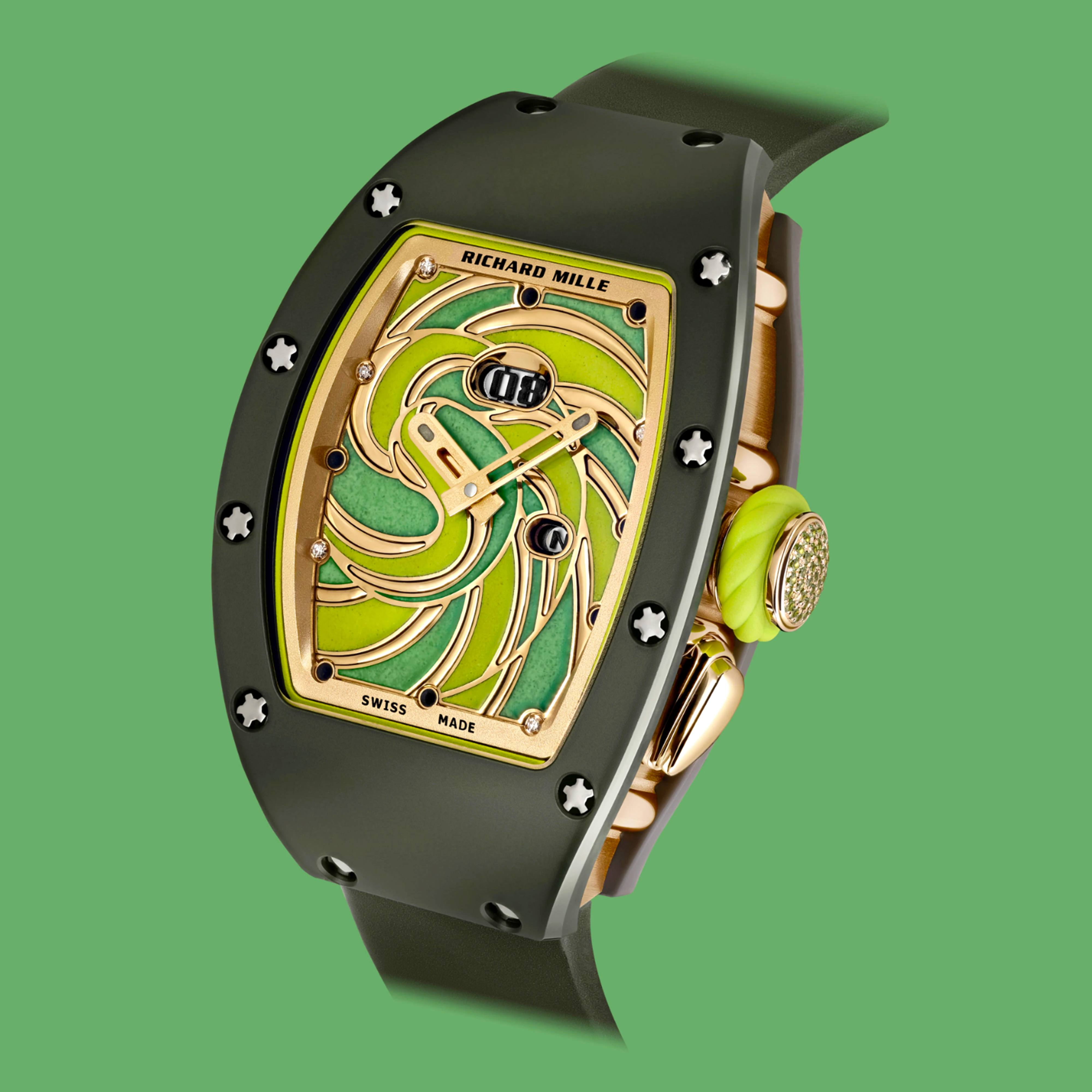 Richard Mille Bonbon Collection featuring the multi-colored RM 37-01 Automatic Sucette timepiece