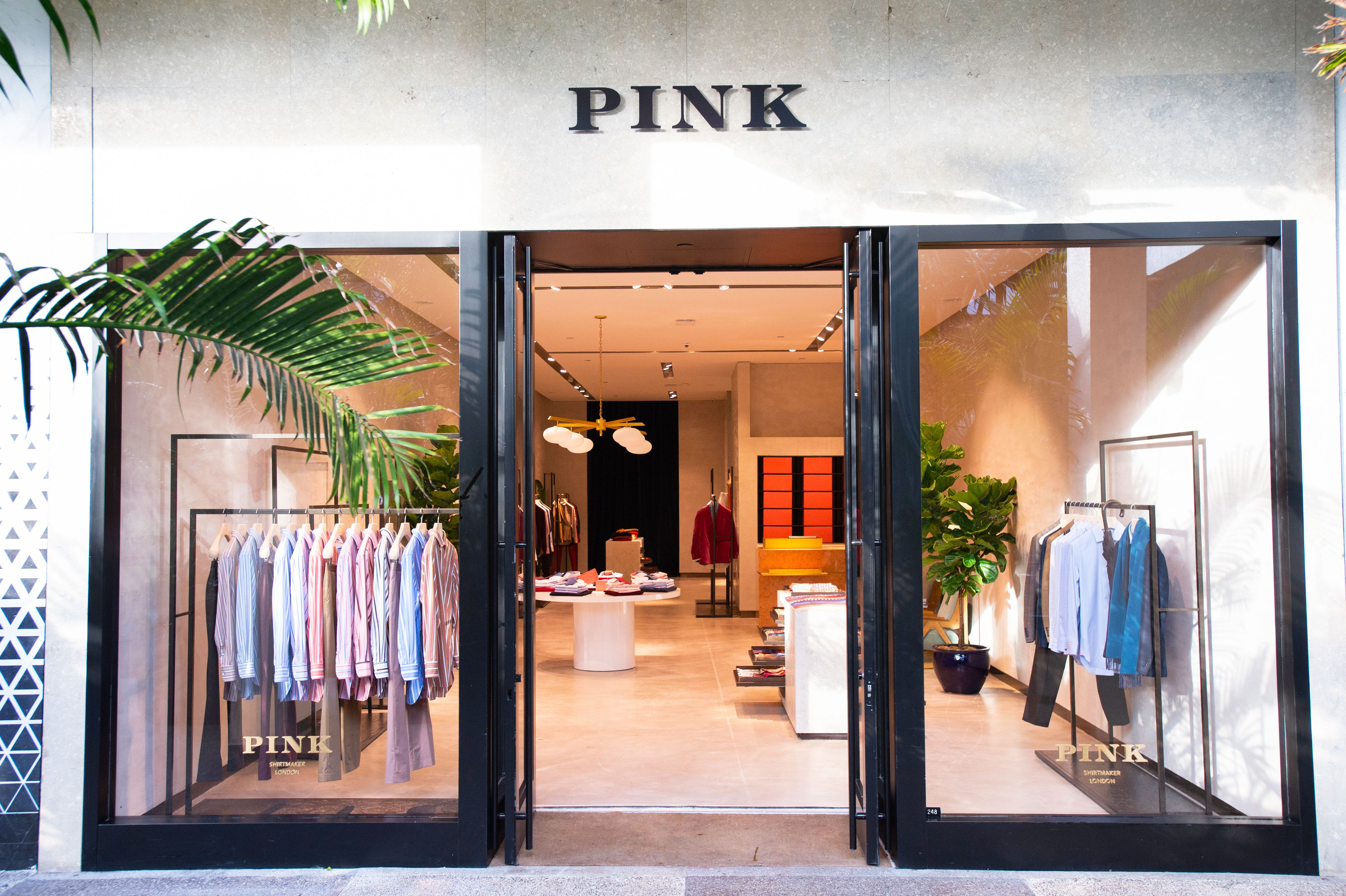 bal harbour shops is home to the new pink shirtmaker london boutique on level 2