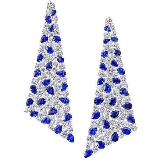 Graff High Jewelry Sapphire and diamond earrings