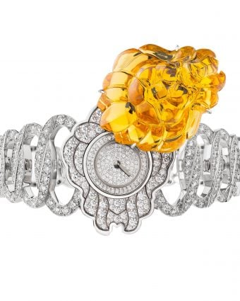 Chanel High Jewelry watch from the L'Esprit du Lion collection in 18k white and yellow gold