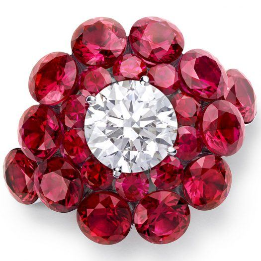 A high jewelry ruby an diamond ring by Chopard