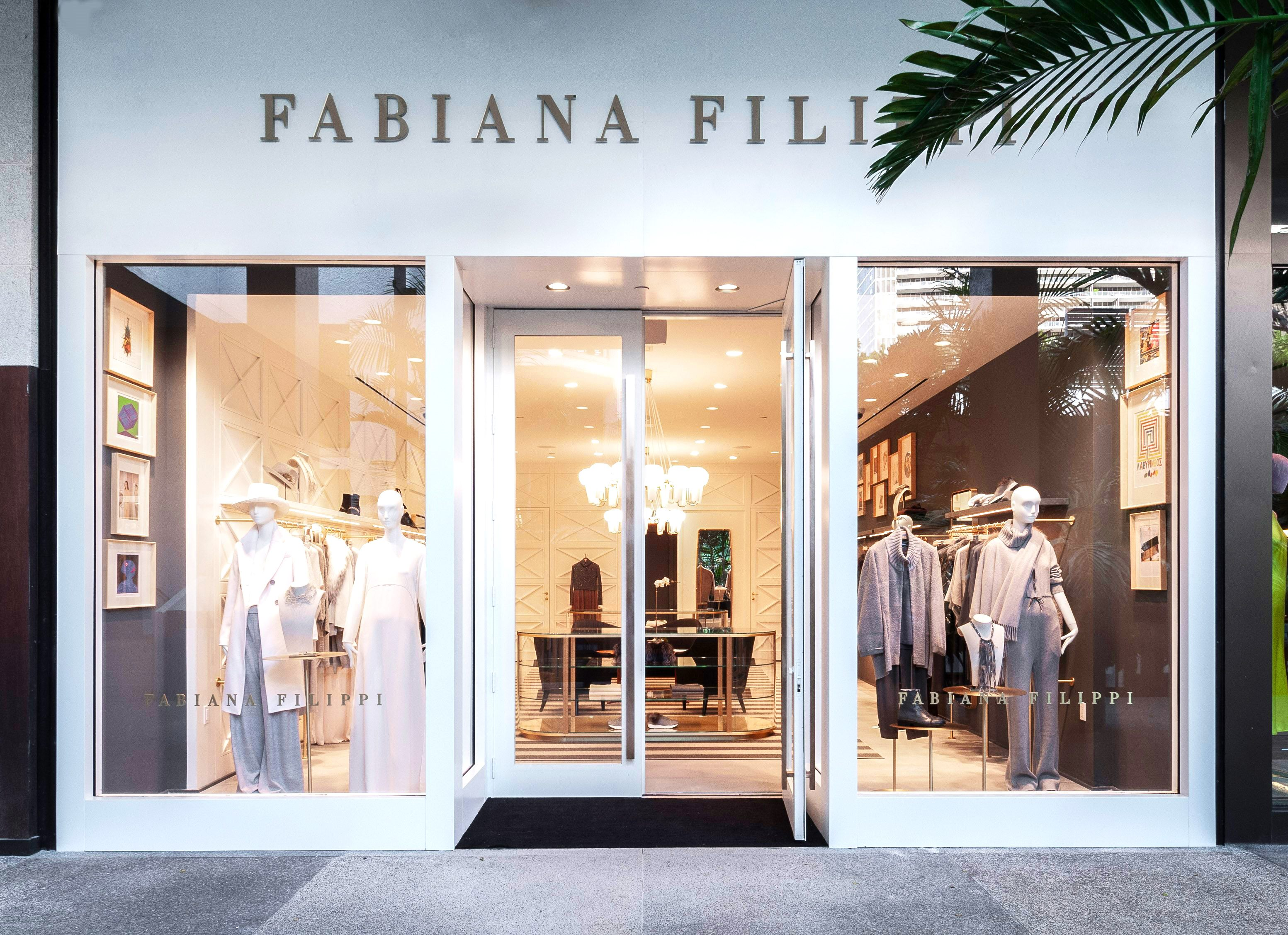 Storefront exterior of Fabiana Filippi Bal Harbour on Level 2 of the Shops