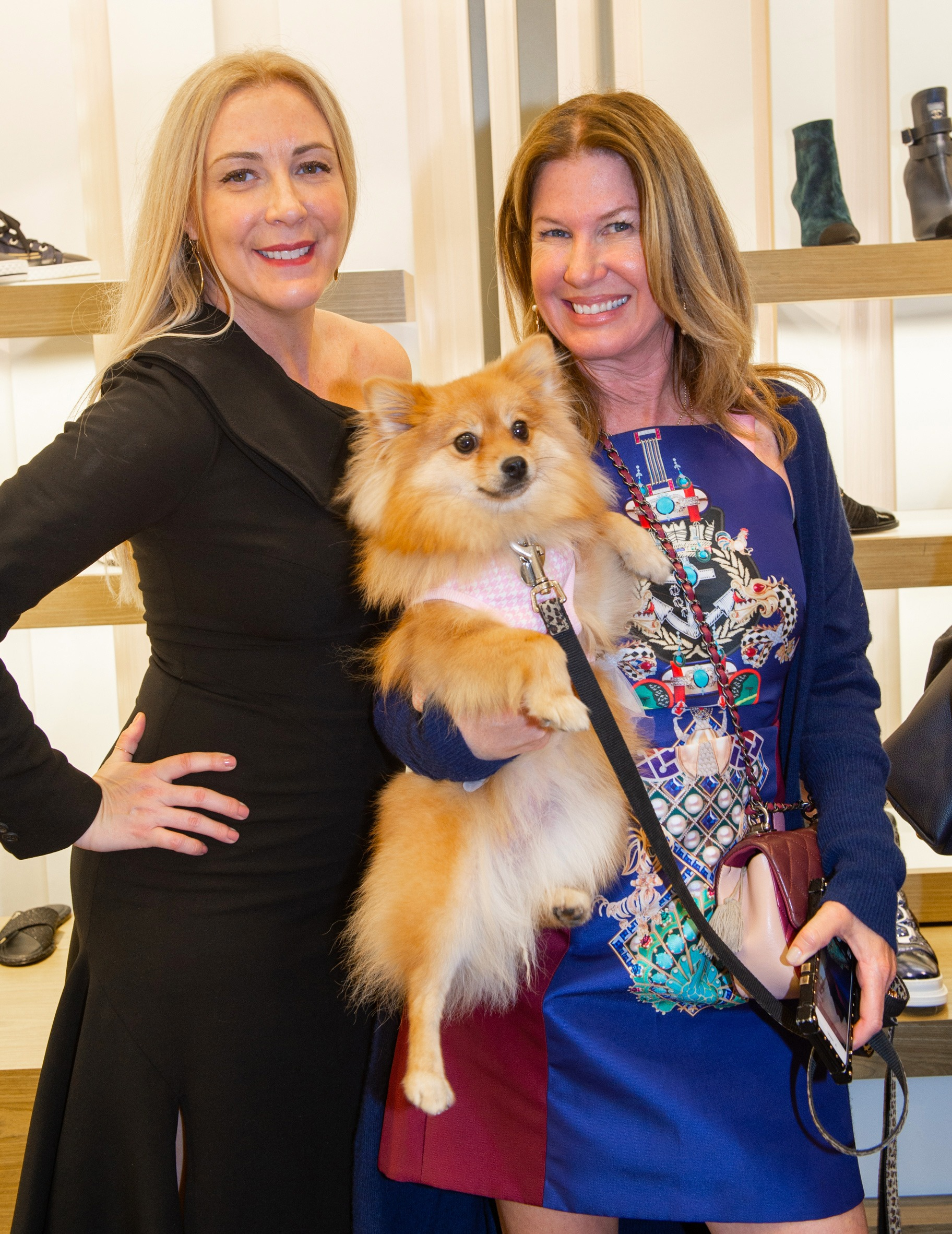 Founder of Walk In Style For The Animals, Angela Birdman and guest Dana Shear enjoying their shopping time inside Neiman Marcus Bal Harbour.