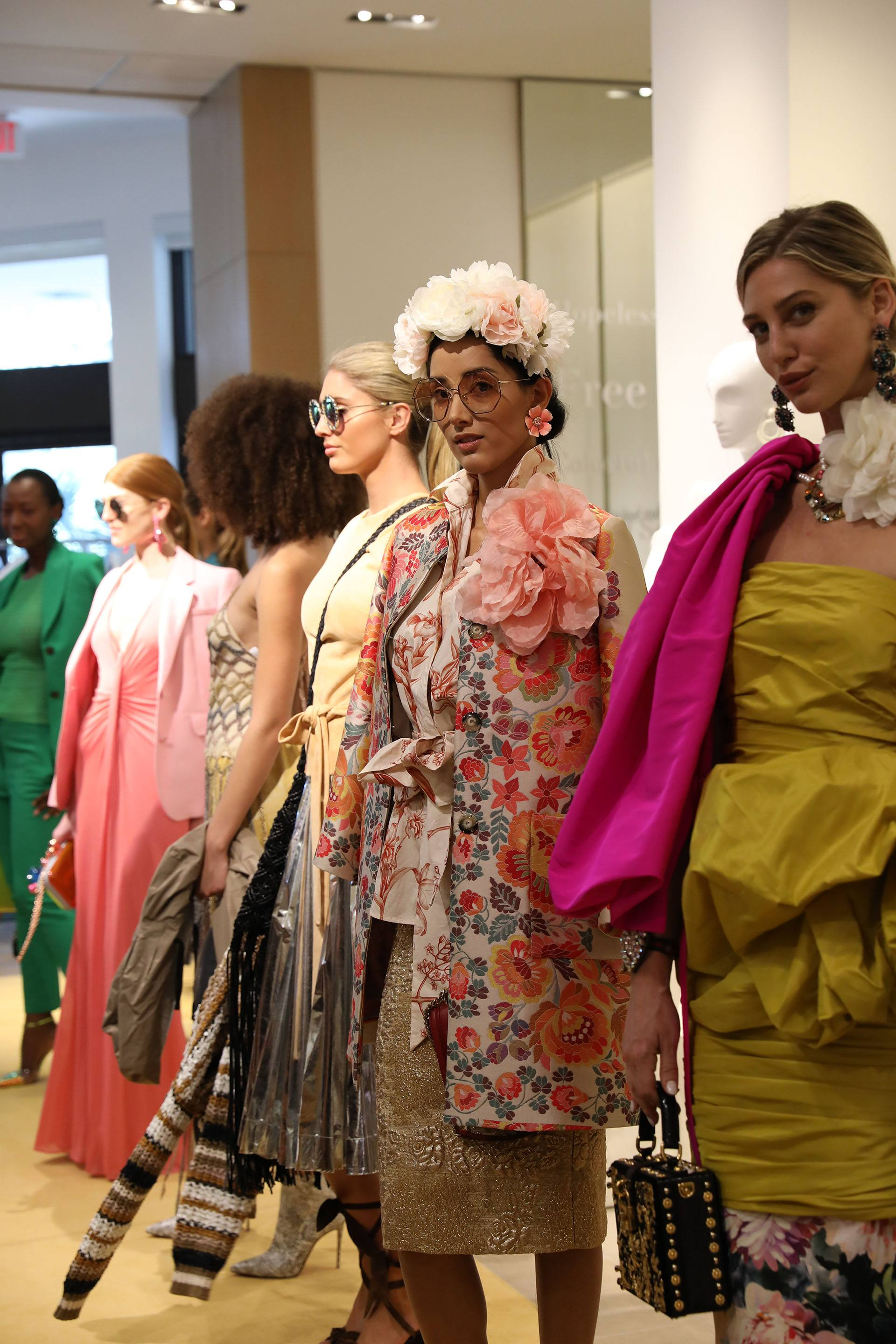 Models in Spring 2019 collection from Neiman Marcus Bal Harbour