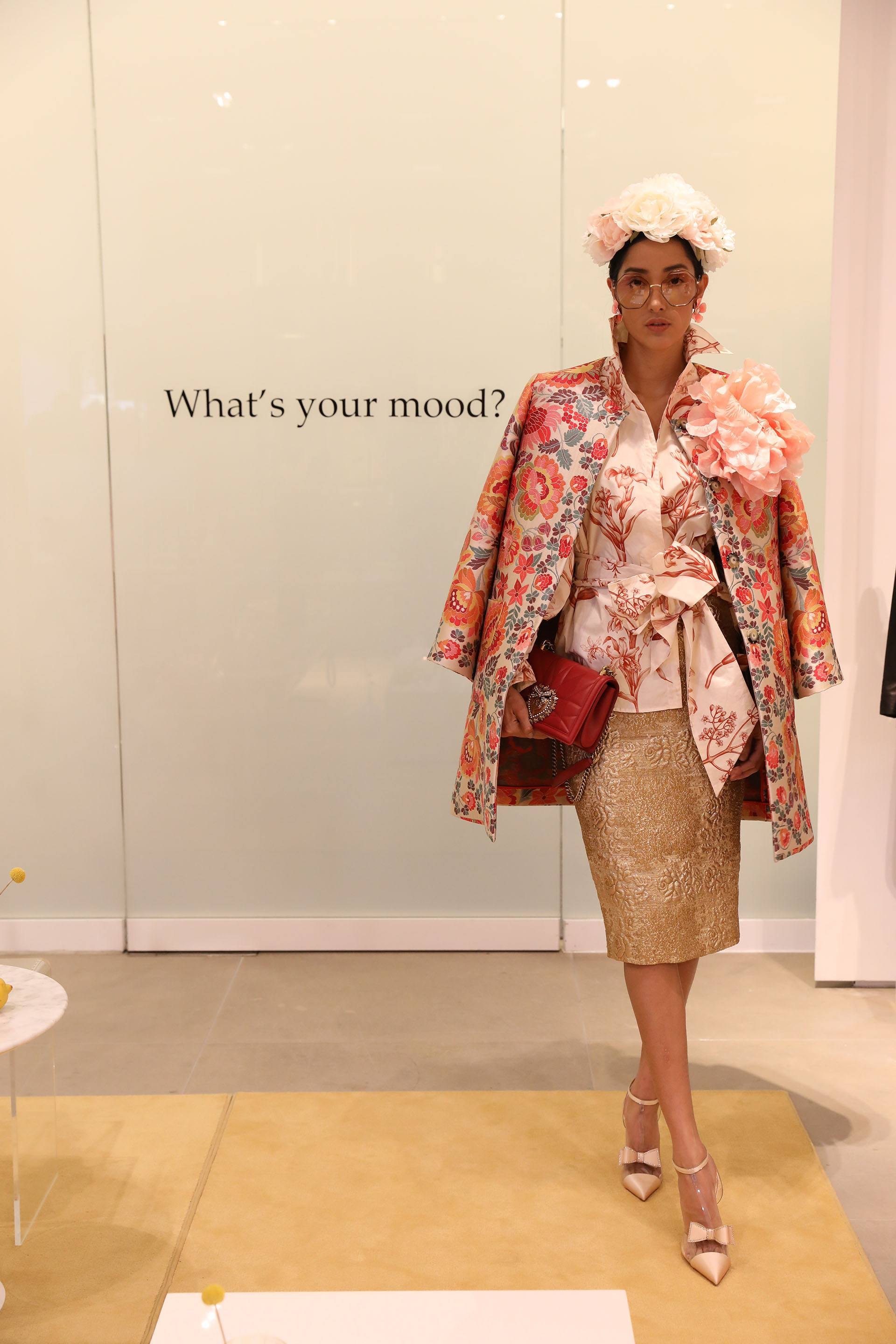 Model in Spring 2019 collection from Neiman Marcus Bal Harbour