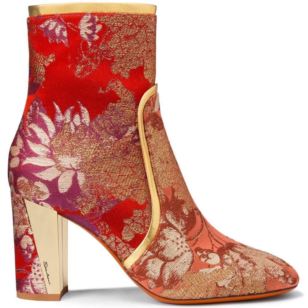 Santoni Ankle Boot in Red