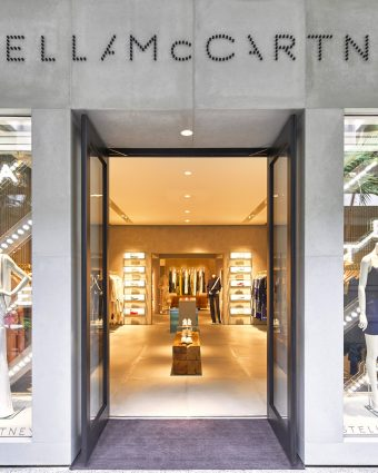 Outside the newly redesigned Stella McCartney Bal Harbour boutique featuring women's, men's and children's ready-to-wear and accessories