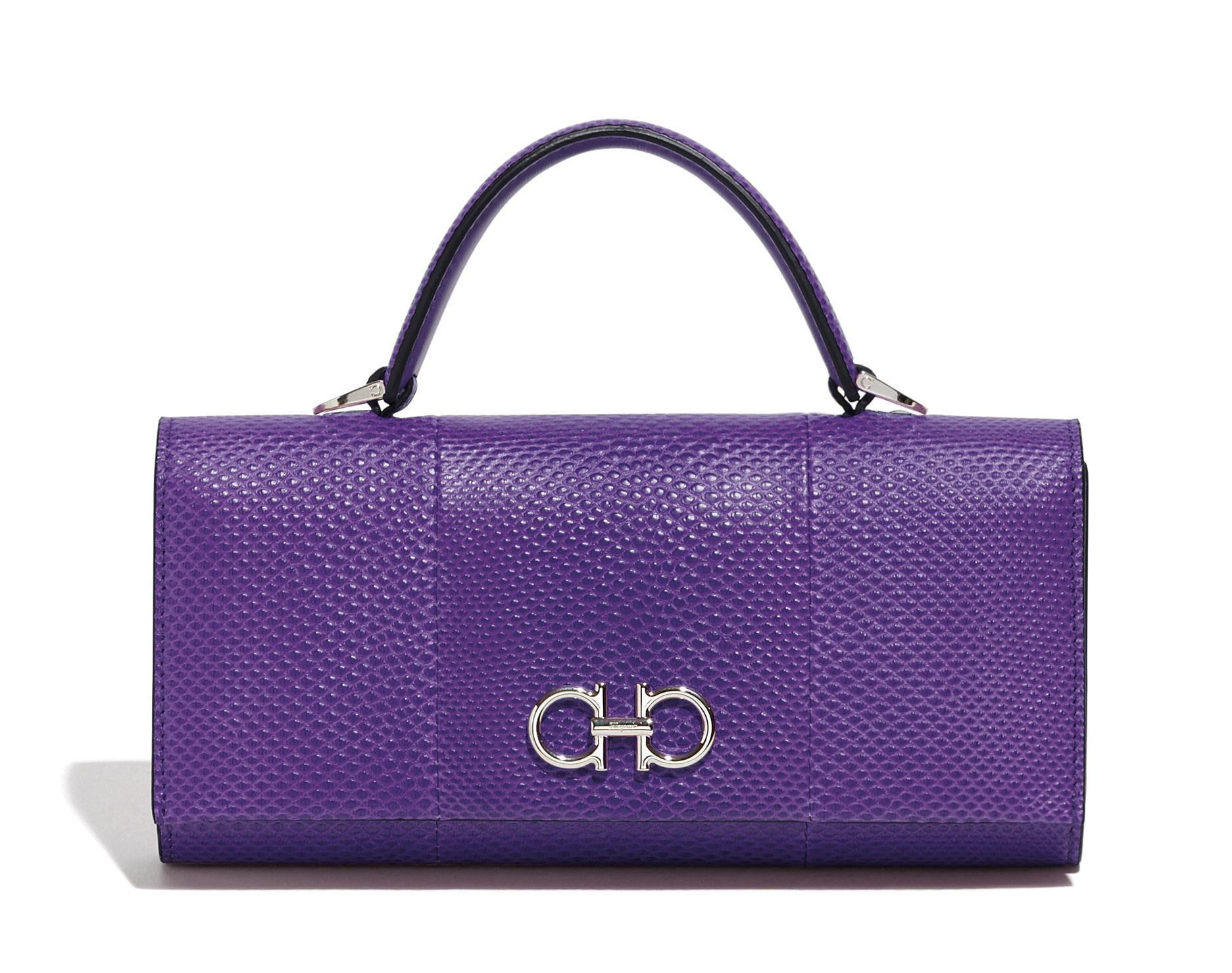 mini shoulder bag by Salvatore Ferragamo in purple
