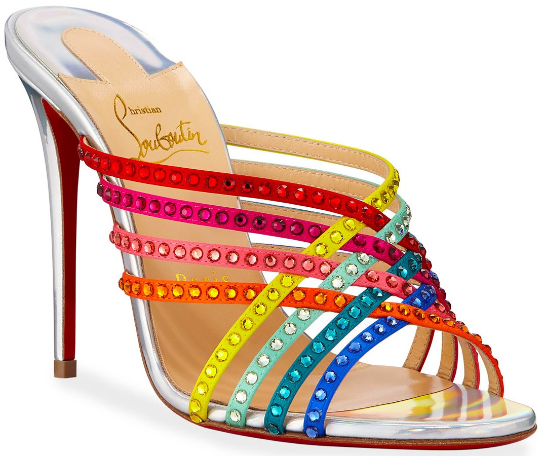 Christian Louboutin Marthastrass Red Sole Slide Sandals available at Saks Fifth Avenue Bal Harbour