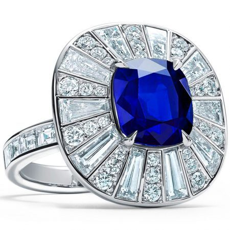 Tiffany & Co. Unenhanced Esteemed Sapphire and Diamond Ring