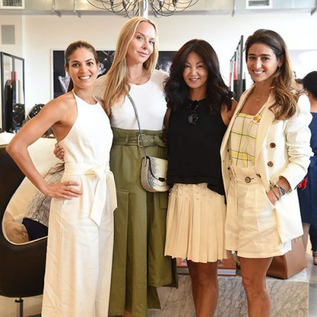 Asha Elias, Christina Getty, Siri Willoch Traasdahl, & Nicole Sayfie Porcelli at Red Market celebrating Wine, Women and Shoes